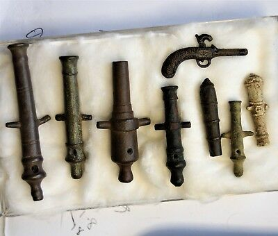 RARE COLLECTION OF 17th-18th C. TOY WORKING CANNONS,  Toy Pistol. NO RESERVE