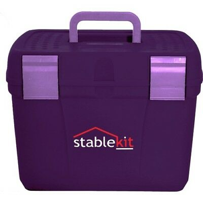 Stable Kit Tack And Unisex Horse Care Grooming Box - Purple One Size