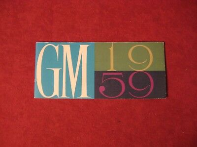 1959 General Motors full line booklet Old Original Brochure Showroom Book GM
