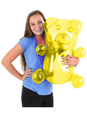 Delicious Candy Large Yellow Gummy Bear Animal Inflatable 24""