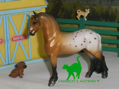Breyer Stablemate 18 Metallic Bay Appy Standing Fresian Mystery Horse Surprise