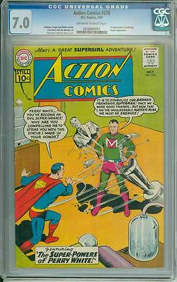 Action Comics # 278  The Super-Powers of Perry White  !  CGC 7.0  scarce book !