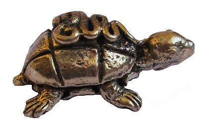 Figurine statuette tortue mystique décoration collection bronze