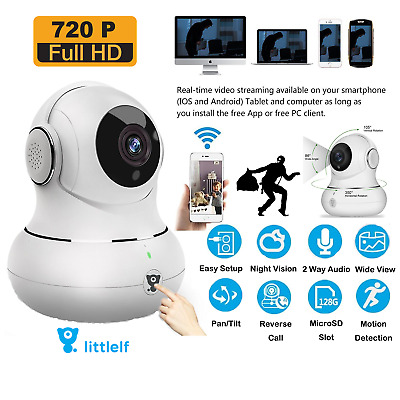 HD WiFi Dog IP Camera Home Work Security Motion Audio iPhone Android Pan Tilt