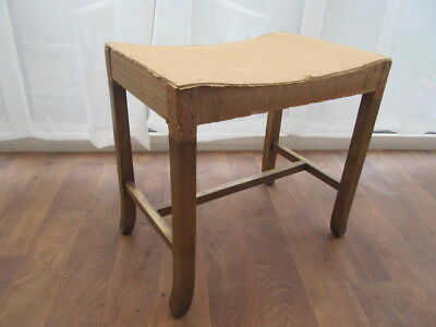 Vintage 40s Bedroom Dressing Table Stool  Utility Furniture  Upholstery project