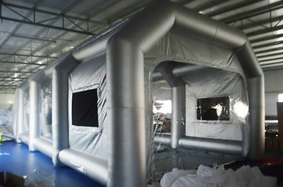 33*16*11 Ft Oxfoard Cloth Painting Spray Booth w/ Filter System & 2* Blowers