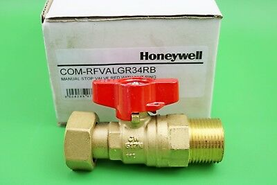 Honeywell Red Manual Stop Valve COM-RFVALGR34RB
