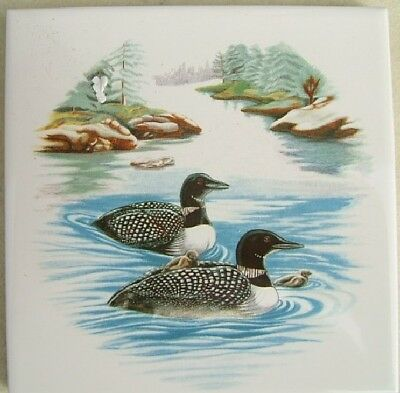 Ceramic Tile Loon #5 Loons bird