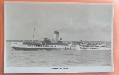 PADDLE STEAMER RP Postcard c.1920 EMPEROR OF INDIA