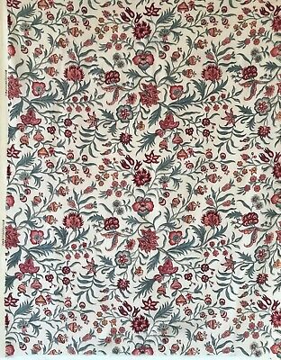Beautiful 1930's Vintage French Printed Jacobean Floral Fabric (2306)