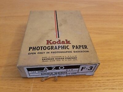 Vintage 1948 Kodak Phptographic Paper F.3 4 X 5 144 Sheets Full Box