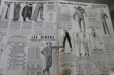 Vintage 1961 Cowboy rodeo ranch Workwear catalog Acme Levi's Stetson Boots