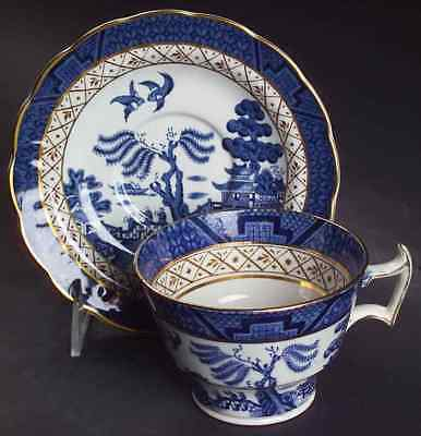 Booths REAL OLD WILLOW BLUE Oversized Cup & Saucer 6728060
