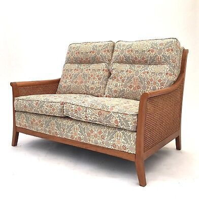 Edwardian Style PARKER KNOLL Club Sofa Colonial Cane Conservatory Settee