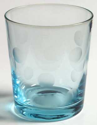 WATERFORD (MARQUIS) POLKA DOT Green Double Old Fashioned Glass 5056851