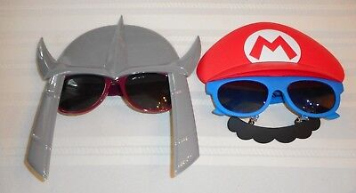 2 Sun-Staches Sunglasses Teenage Mutant Ninja Turtle & Super Mario Bros Shades