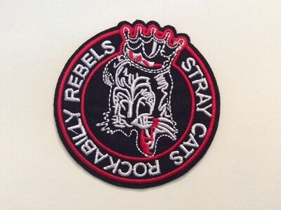 M212 // Ecusson Patch Aufnaher Toppa / Neuf / Stray Cats Rebels 8 Cm