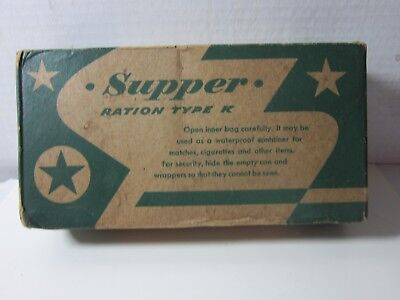 Vintage WWII 1940's Early K Ration Dinner Cracker Jack Mfg. Co. Chicago