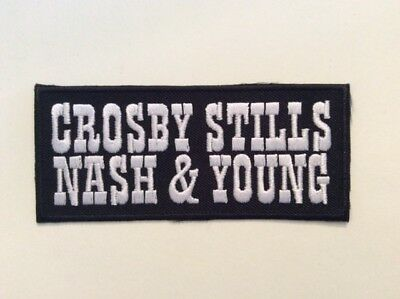 M243 // ECUSSON PATCH AUFNAHER TOPPA / NEUF / CROSBY STILLS NASH YOUNG 10*4,5 cm