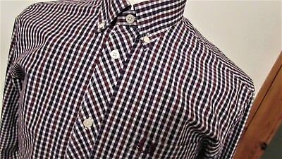 Fred Perry Check Shirt Casuals Mod Scooter Rare Deadstock M Medium L@@k