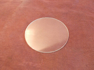 "Replacement Flat Clock Dial Glass 76-101mm (3""-4"") diameter 2mm Thick"