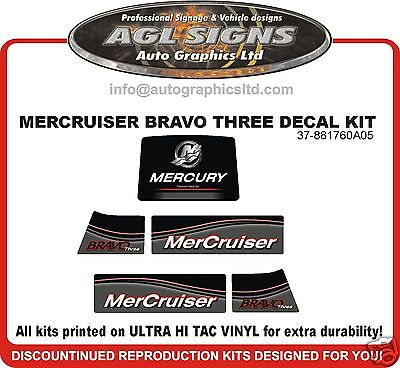 Mercury Mercruiser Bravo Three  Outdrive Decal Kit reproductions   Diesel Azius