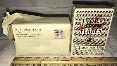 Antique Unopened Sample Size Ivory Soap Flakes Vintage