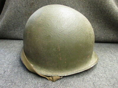 Wwii Us M1 Helmet-Front Seam Swivel Bales-W/ Westinghouse Liner W/decal-Insignia