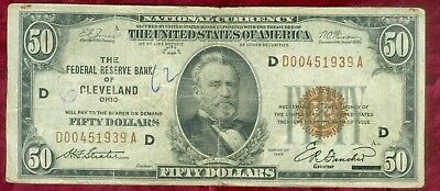 National Currency-Series of 1929 $50.00 Cleveland