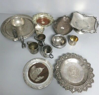 Lot of Vintage Antique Mixed Silverplate Serving Dishes