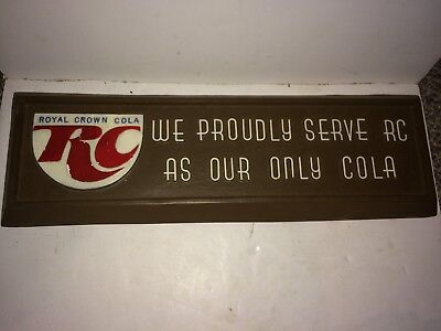 Vintage 60's/70's Royal Crown Cola RC Soda Pop Advertisement Wall Sign