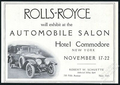 1919 Rolls Royce car with chauffeur photo vintage print ad