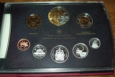 2008 Canada 400th Anniversary of Quebec Proof Double Dollar Set with COA