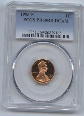 1993-S Lincoln Cent Pr69Rd Dcam Pcgs Proof 69 Red Deep Cameo