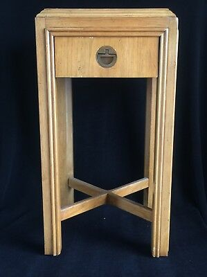 "Drexel Campaign End Table from Robb & Stucky ~ Vintage ~ 24 1/2"" x 13"" x 13"" MCM"
