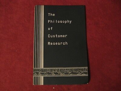 1930's GM Customer Research booklet Old Original Brochure Showroom Book GM