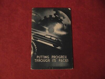 1930's GM Progress through Paces booklet Old Original Brochure Showroom Book GM
