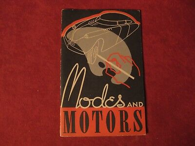 1930's GM Modes and Motors booklet Old Original Brochure Showroom Book GM