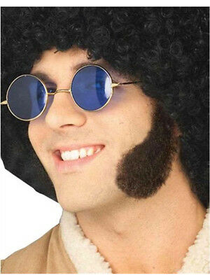 Deluxe Human Hair Brown Cheesy 60s Costume Side Burns