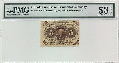 Fr# 1229 PMG 53 Exceptional Paper Quality About Uncirculated Note FREE SHIPPING!