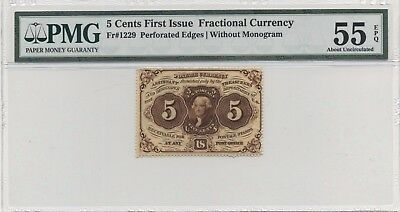 Fr# 1229 PMG 55 Exceptional Paper Quality About Uncirculated Note FREE SHIPPING!