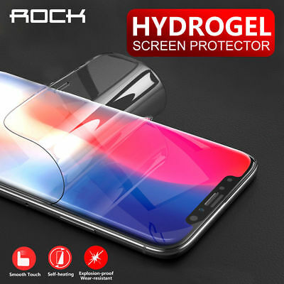 Apple iPhone X XS MAX XR 8 Plus ROCK HYDROGEL AQUA CRYSTAL FLEX Screen Protector