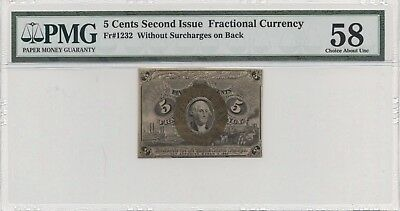 Fr# 1232 PMG 58 Without Surcharges Choice About Uncirculated Note FREE SHIPPING!