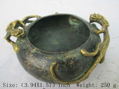 Ancient Chinese manual collection brush washer, anaglyph dragon NR  v