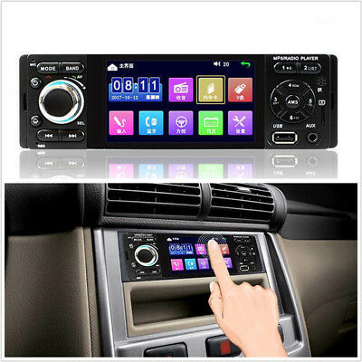 """4.1"""" Touch Screen HD 1-Din In Dash Autos Bluetooth Radio Audio Stereo MP5 Player"""