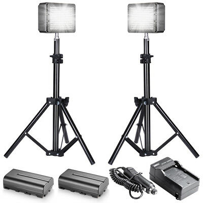Bestlight Double LED-204 Video Light Kit with Light Stand for Canon Nikon Pentax