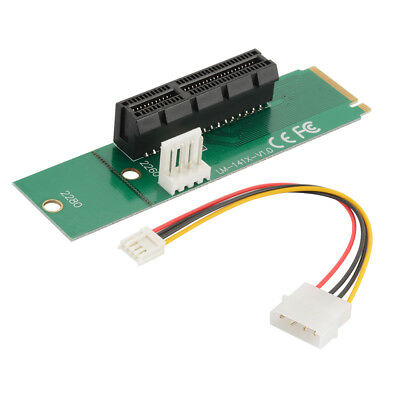 M.2 M Key Slot to PCI-e Express 1X/4X Card Converter Adapter with Cable AC1259