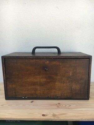 Antique Watchmakers Box / Engineers Chest / Tool Box / Collectors Chest
