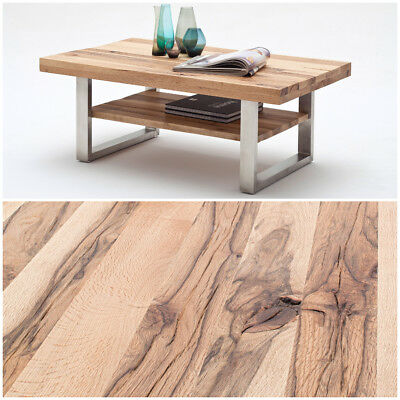 Couchtisch Pure Edelstahl Recycling Holz Massiv Design