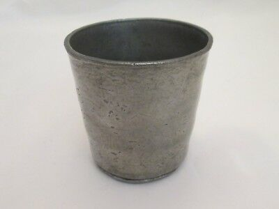 A Good 19th Century Pewter Wine Beaker / Cup